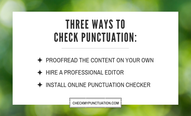 correct my punctuation for free software